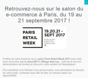 Ufindeer au salon du ecommerce de Paris PRW 2017