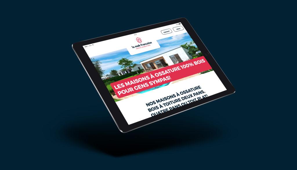 Le site internet de La MOB française, une création de l'agence Mars Rouge à Mulhouse.