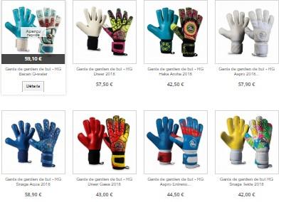 Des gants de football sur gbs france