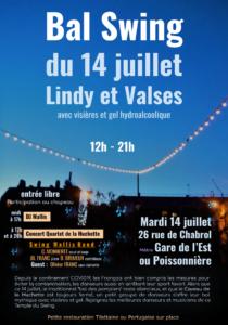Bal à Paris 14 juillet 2020