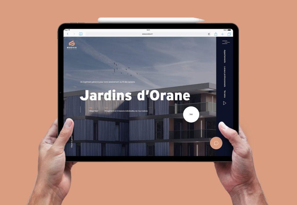 Le site web de Sodico Immobilier, réalisé par l'agence Mars Rouge à Mulhouse.
