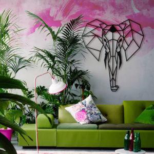 Love trophy décoration murale éléphant